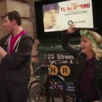 Amy Poehler running through New York wearing a mask is essential viewing
