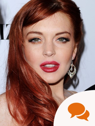 Commit lindsay lohan red lips there other