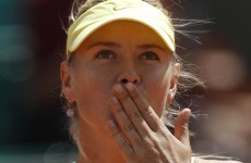 Sharapova moves into second round at French Open