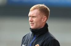 Paul Scholes makes United return to assist Ryan Giggs