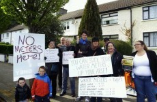 Protesters have 'all the time in the world' to stop water meter work today