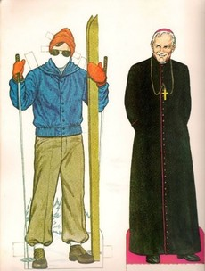 John Paul II was so popular in the 1980s, he even had a dress-doll book dedicated to him...