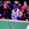 Evil baseball watcher poaches ball from grasp of young Yankees fan