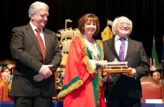 Michael D Higgins gets the freedom of Cork, mentions how much Corkonians like to say 'like'