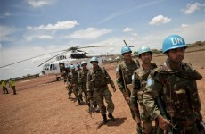 Gunmen fire on UN helicopters in tense Sudan town