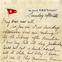 Letter written on the day the Titanic sank sells for €145,000