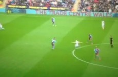 Jonjo Shelvey with a ridiculous lob from inside the centre circle