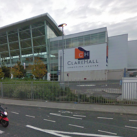 Staff threatened with iron bar during cash-in-transit robbery at Clare Hall Shopping Centre