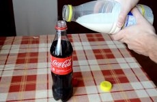 Here's what happens when you mix Coke and milk, and it's disgusting