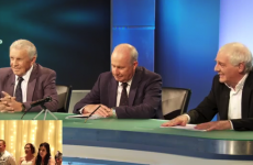 Bill, Giles, Dunphy and Brady sent a wedding message to one happy couple this weekend