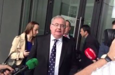 WATCH: Pat Rabbitte ignores questions about leadership, talks for 73 seconds about postcodes