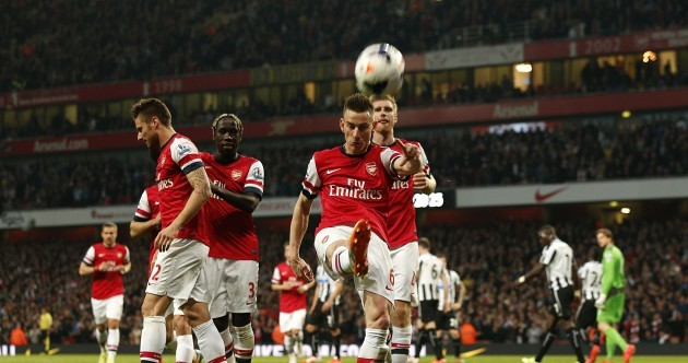 Koscielny, Ozil and Giroud have Arsenal coasting against Newcastle
