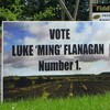 Someone's had a little fun with a Luke 'Ming' Flanagan poster in Roscommon