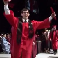 This graduation ceremony backflip fail will strain all your cringe muscles