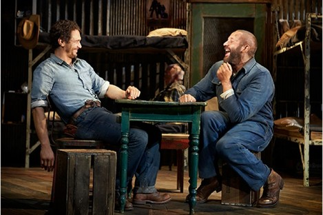 James Franco and Chris O'Dowd in Of Mice And Men