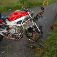 This is what a motorbike looks like after a fatal crash