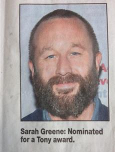 Cork actress looks a bit rough in today's Irish Examiner