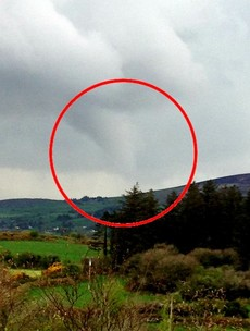 Dramatic cloud funnel spotted in Cork amid severe thunderstorm