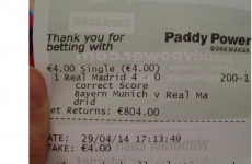 The Irishwoman who made THAT Bayern-Real bet last night