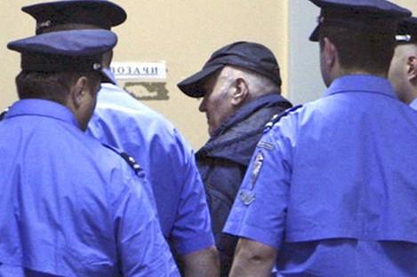 Mladic enters court on Thursday in Belgrade.