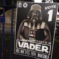 Darth Vader is running for election in Dublin*