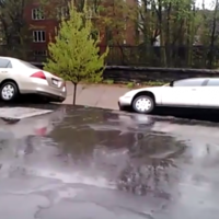 Scary video shows entire street of cars swallowed in Baltimore landslide