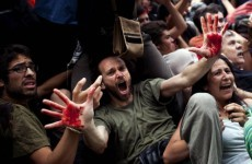 Spanish police clash with protesters in central Barcelona