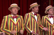 Kevin Spacey joined Jimmy Fallon's barbershop quartet and it was beautiful