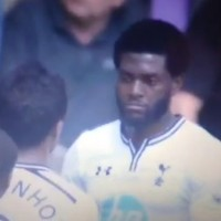 Emmanuel Adebayor's reaction to making a hames of the wall is priceless