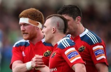 Conway and Hurley tries give Munster 20-12 half-time lead