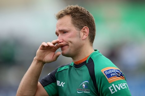 Dan Parks is emotional as he says farewell to the Connacht fans.