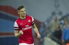 Arsenal won today thanks to Olivier Giroud's near post header