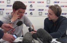 Bristol Rovers manager reduced to tears after their relegation from the Football League
