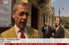 People are donating drink money to the guy who did the w*nker sign behind Nigel Farage