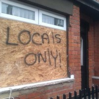 Racist graffiti attack on Belfast homes