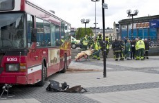 Six people - including baby - injured in Stockholm Marathon bus accident