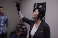 Teen hugs her father for the first time after being given a bionic hand