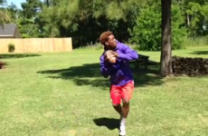 Can this 17-year-old American Football prospect catch his own Hail Mary?