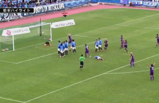 Check out this outrageous free kick replete with FOUR dummies