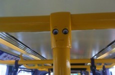 This googly-eyed Luas pole will make you smile