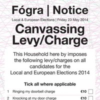 Canvassers getting on your nerves? You need this genius canvassing levy card