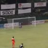 Singapore-based player scores volley from just inside opponents' half