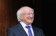 President Higgins receives honorary doctorate from Indiana University