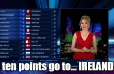 Azerbaijan tries to vote Ireland back into the Eurovision