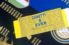 Javier Zanetti closed out his San Siro career wearing a one-off captain's armband