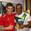 Cafu finally gets the chance to meet Jon Flanagan