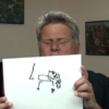 Blind man attempts to draw things he's never seen