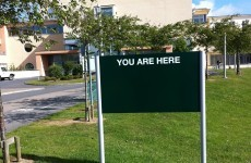 "Dublin hospital temporarily reminds visitors: ""You are here"""