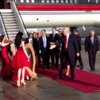 Watch Donald Trump's incredibly awkward arrival on Irish soil