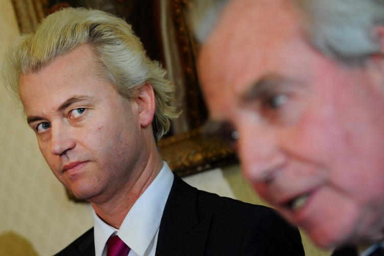 Geert Wilders with a member of UKIP.